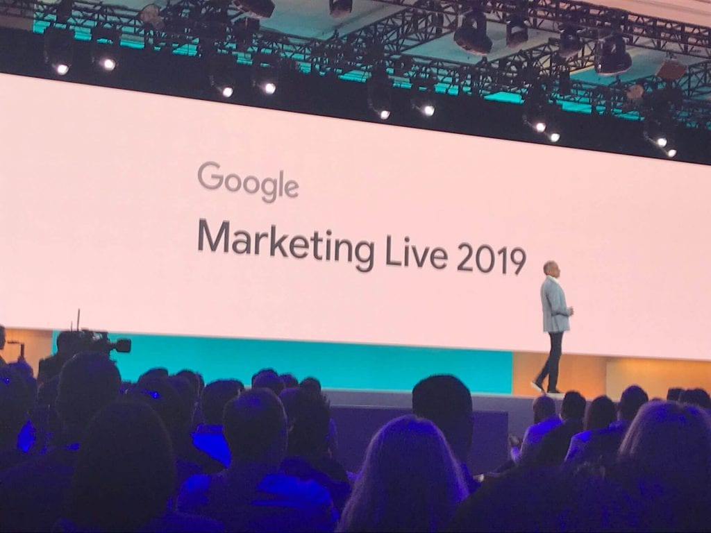 Google marketing live 2019 stage